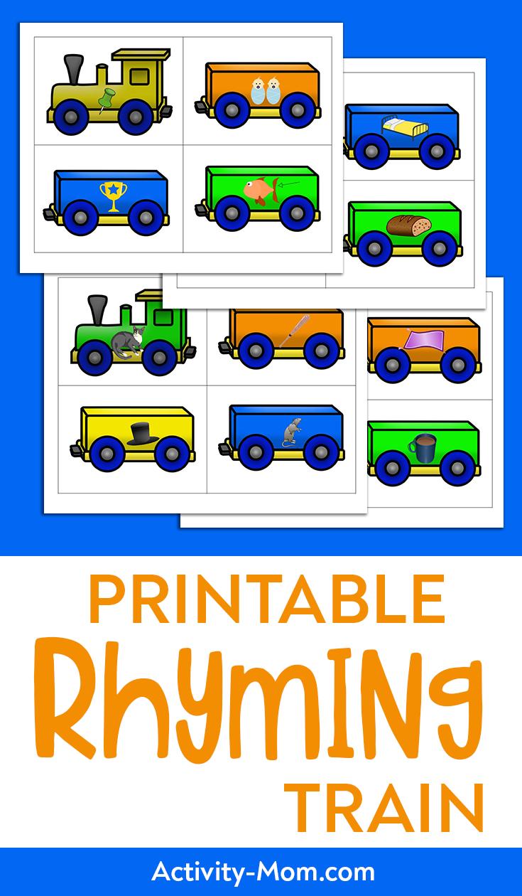 rhyming train free printable