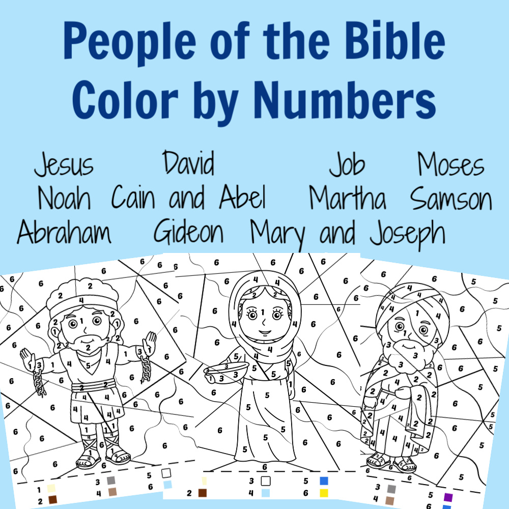Bible Color by Numbers