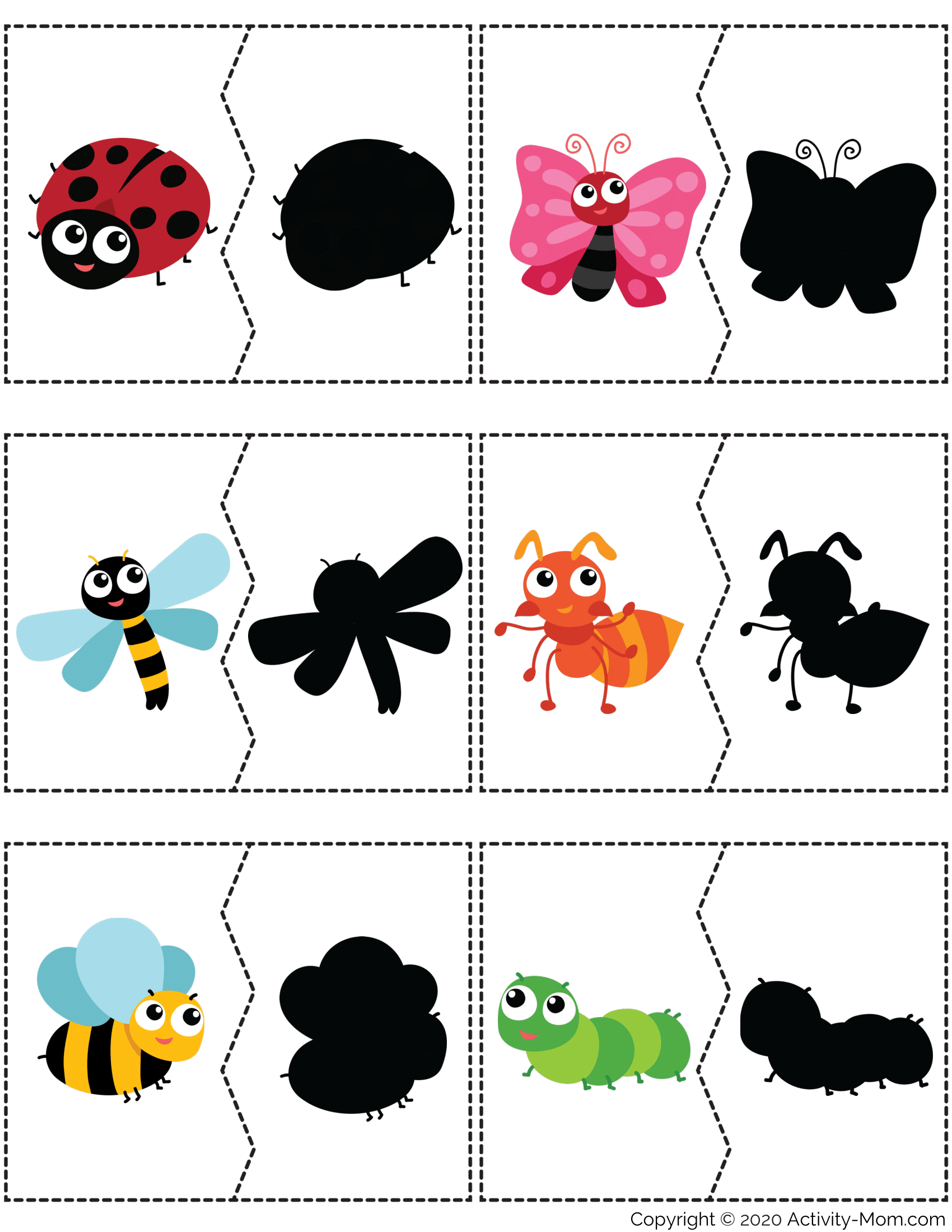 Insects Shadow Matching Puzzle