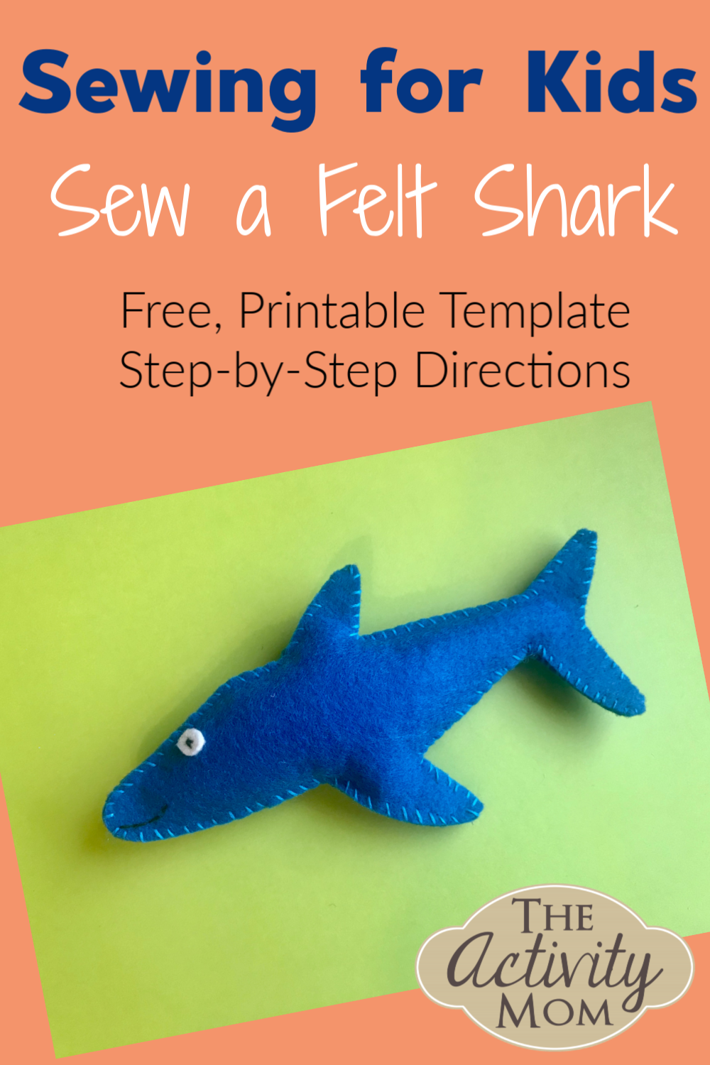 Sew a Felt Shark for Kids