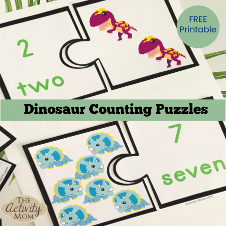 Free Printable Dinosaur Counting Activity