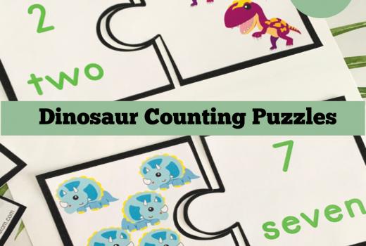Free Printable Dinosaur Counting Activity