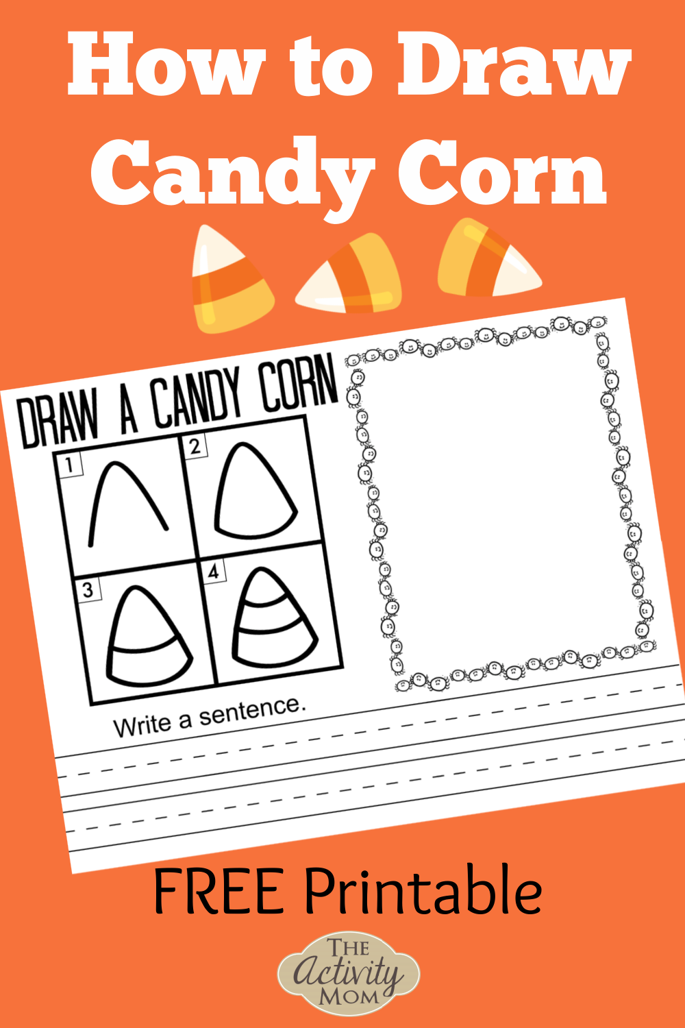 How to Draw Candy Corn for Kids