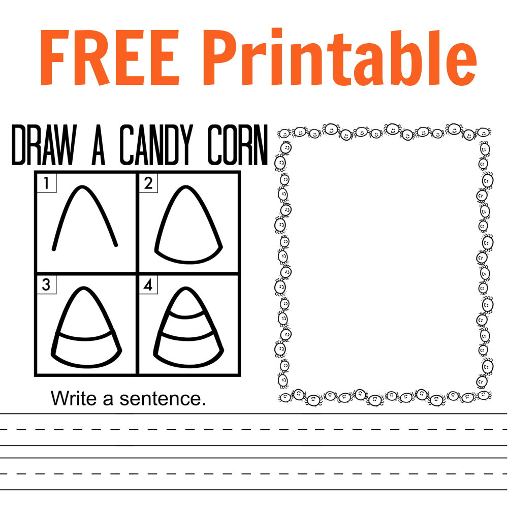 How to Draw Candy Corn FREE Printable