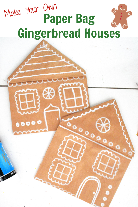 Paper Bag Gingerbread Houses