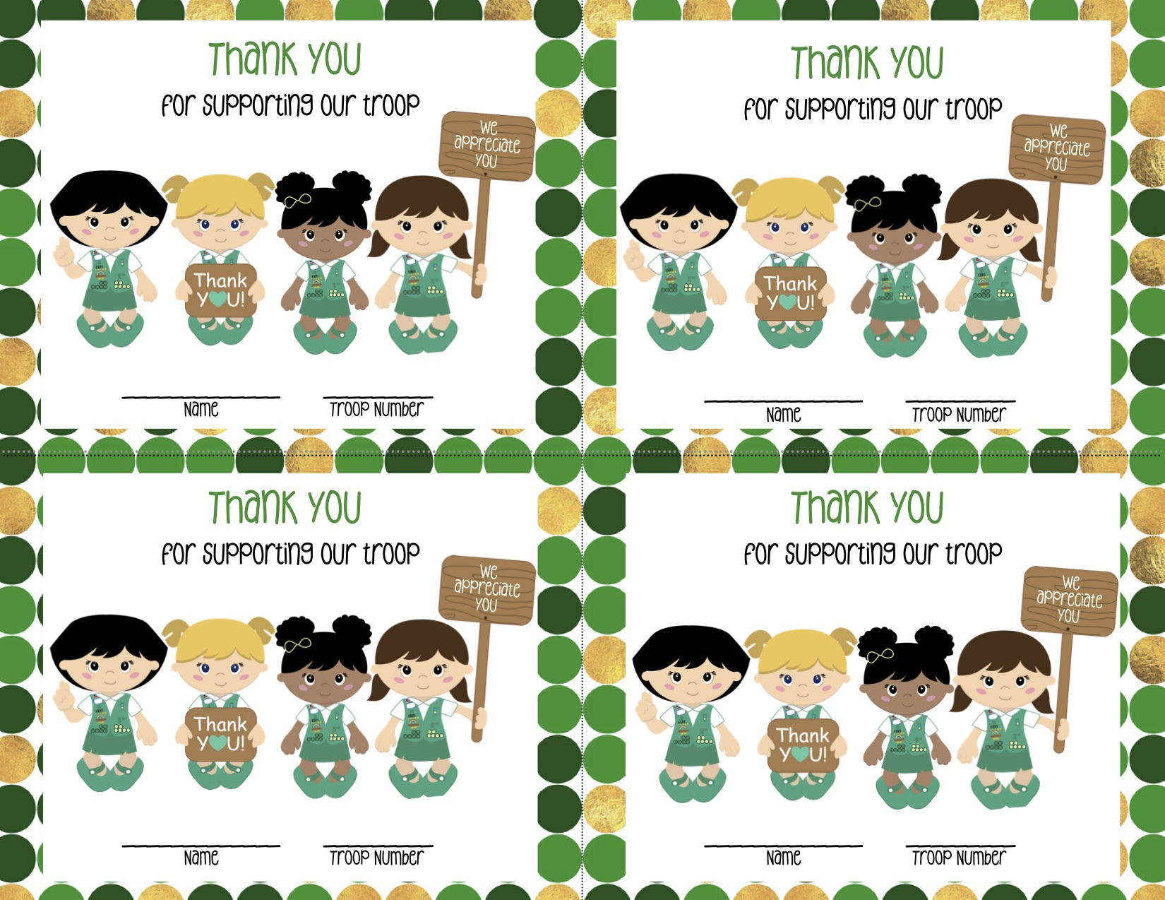 Girl Scout Thank You Notes