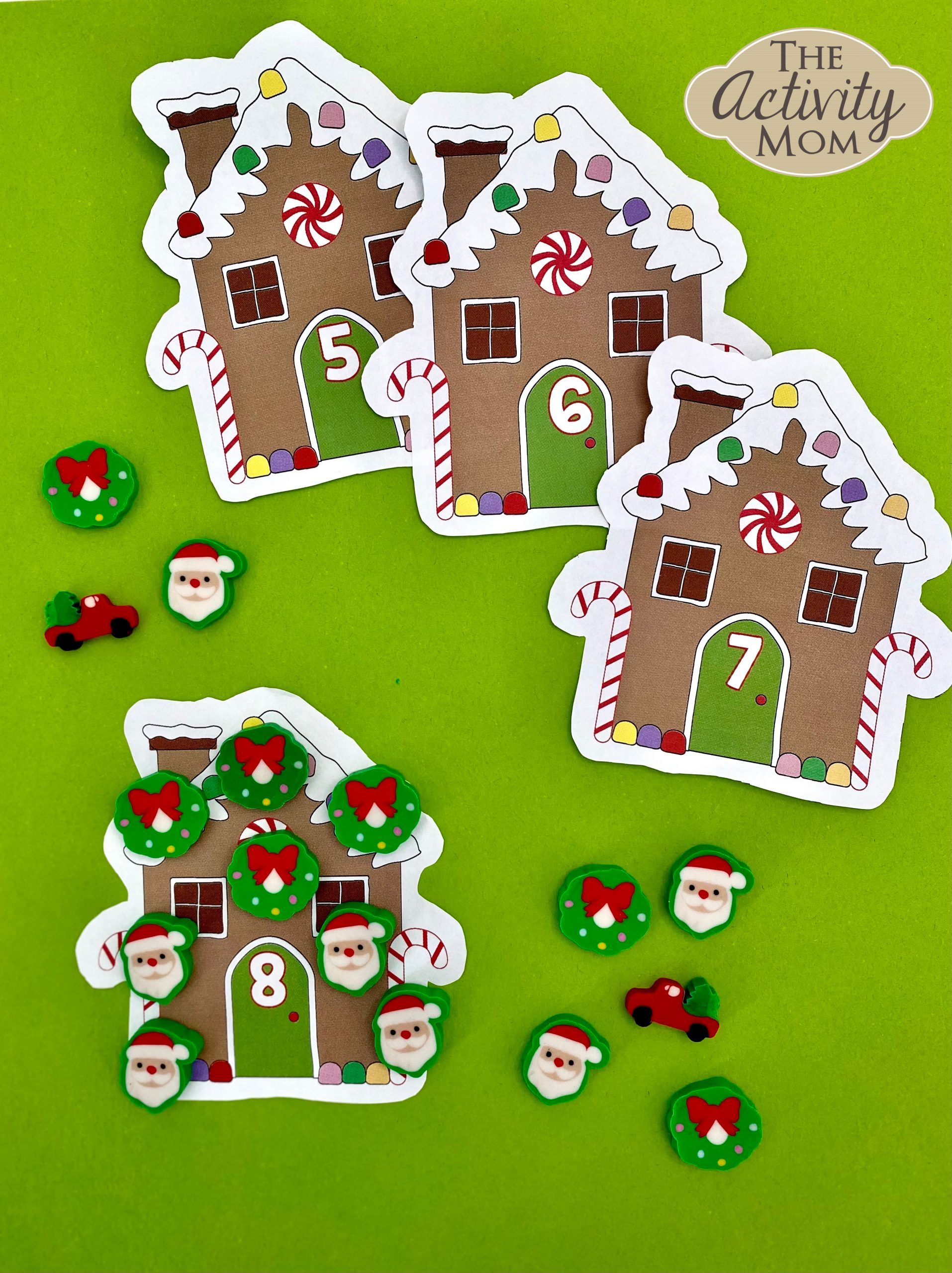 Gingerbread House Counting Cards