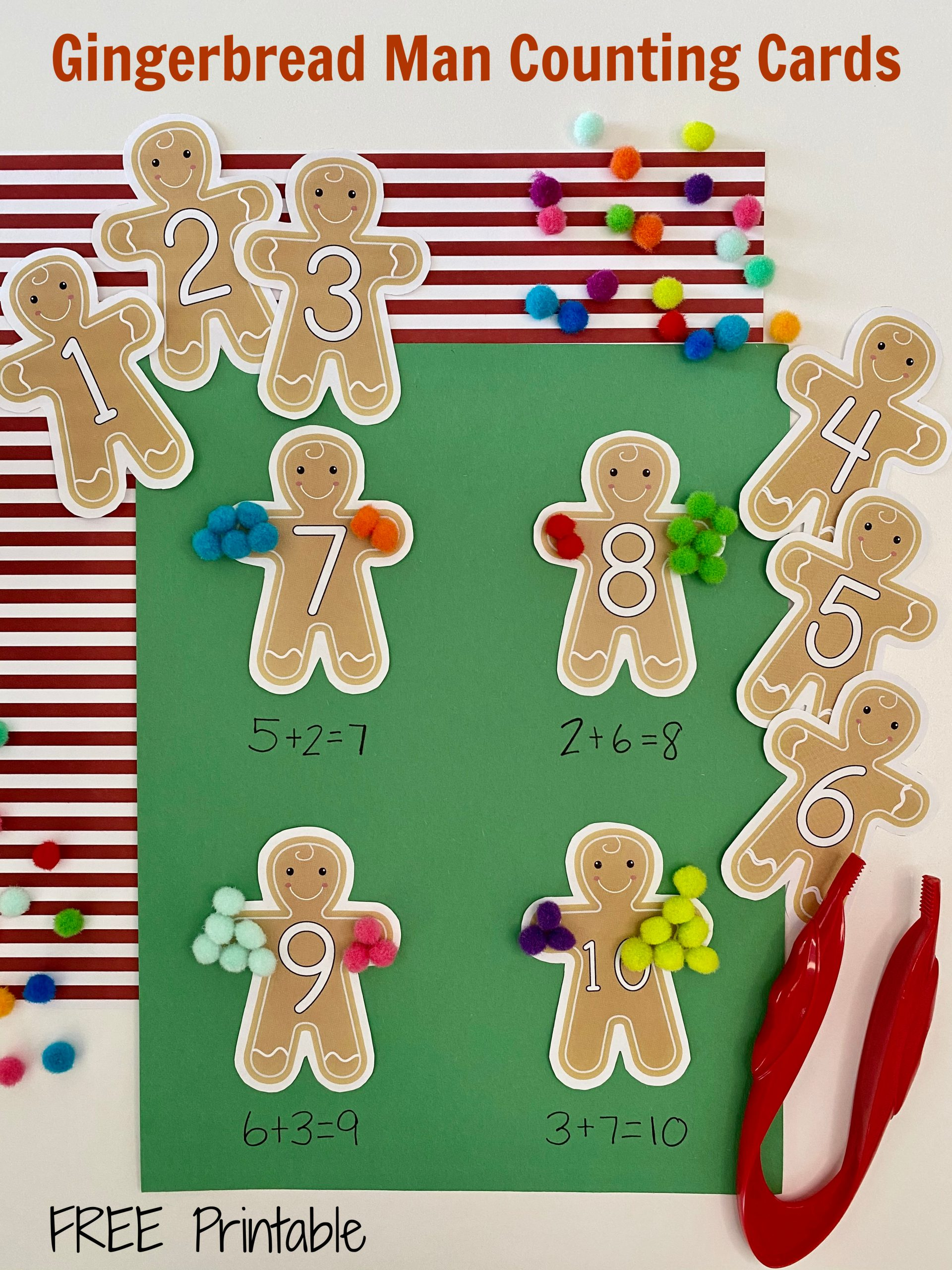 Gingerbread Man Counting Cards