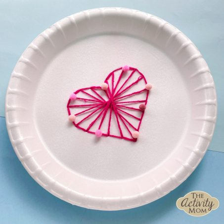 Heart String Art Craft