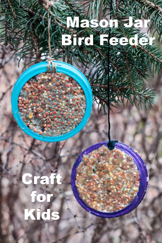 Mason Jar Bird Feeder Craft for Kids