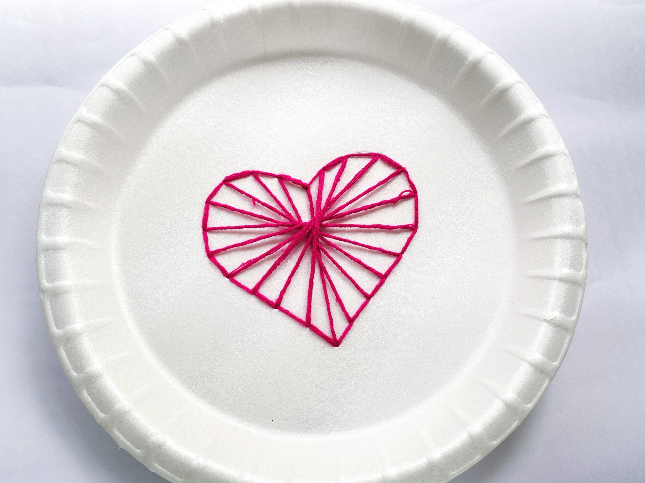Heart String Art Craft