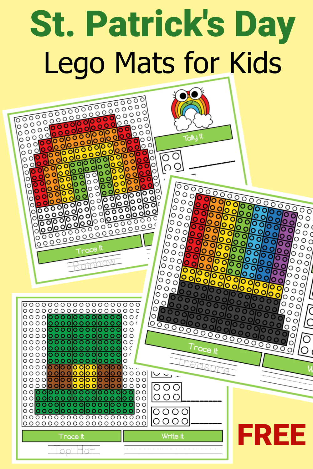 St. Patrick's Day Lego Mats for Kids