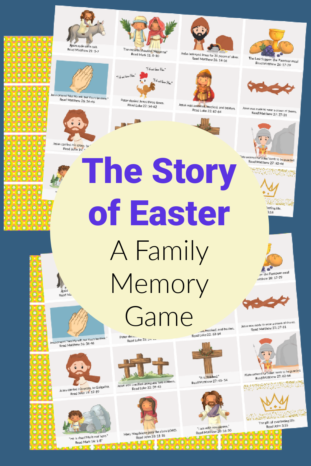 Easter Story Memory Game