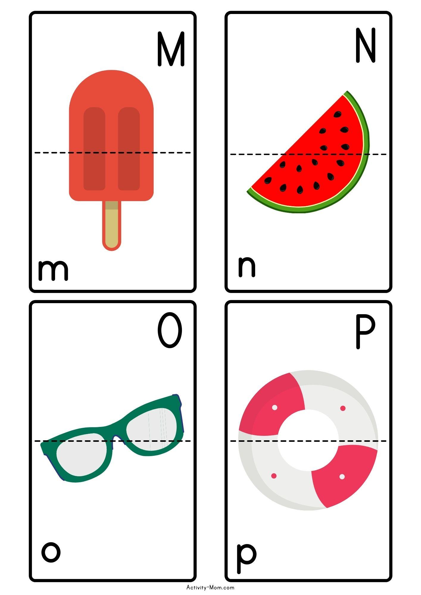 Summer Alphabet Matching Activity