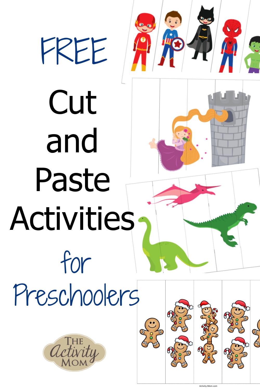 FREE cut and paste activities for preschoolers