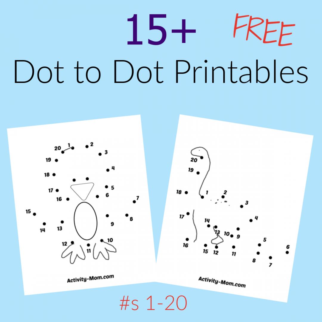 FREE Dot to Dot Printables 1-20