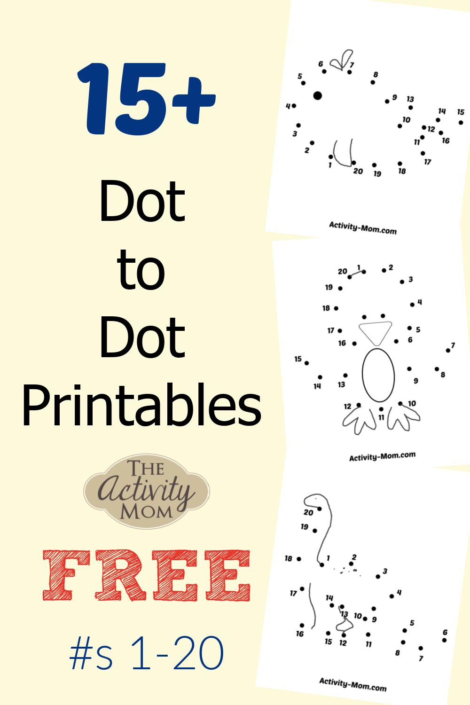 Dot to Dot Printables 1-20 FREE