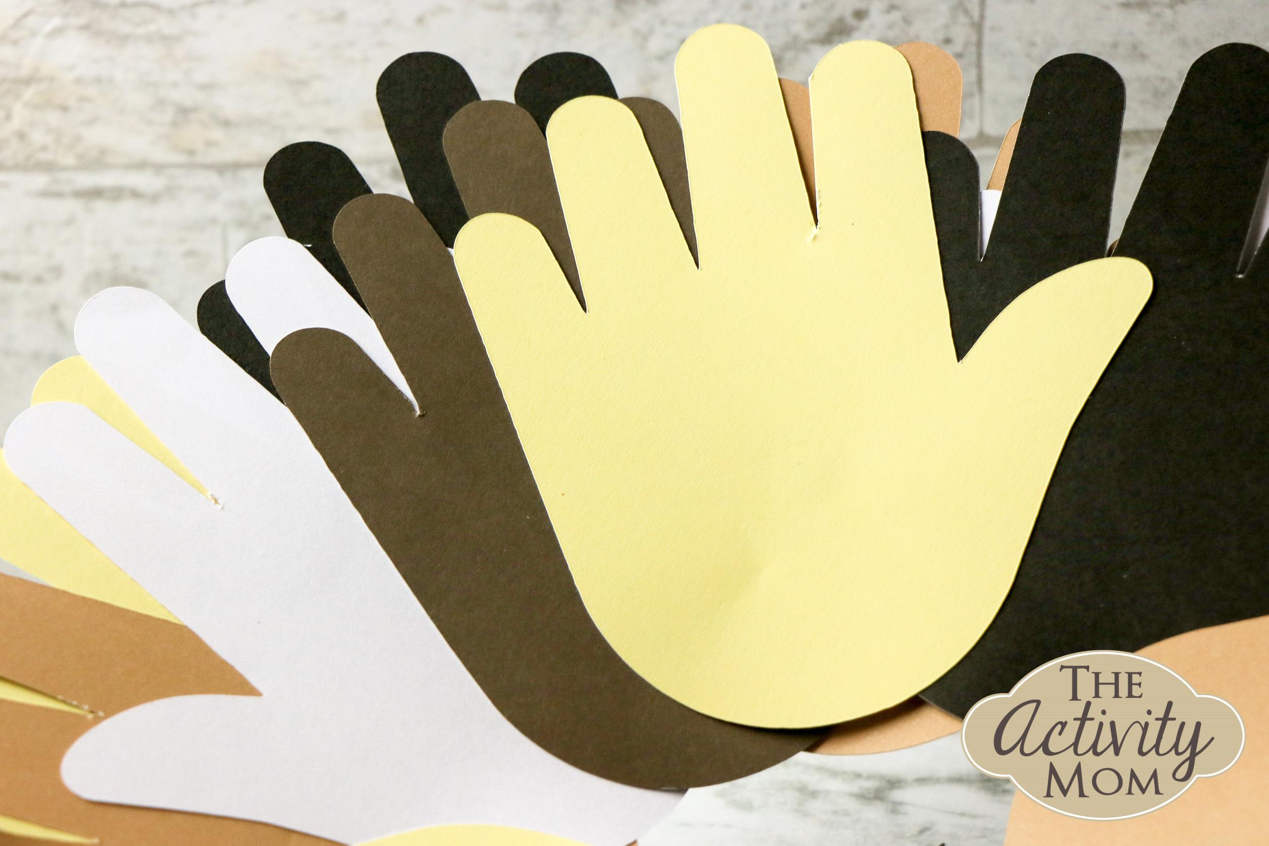 Handprint Paper Plate Wreath Craft