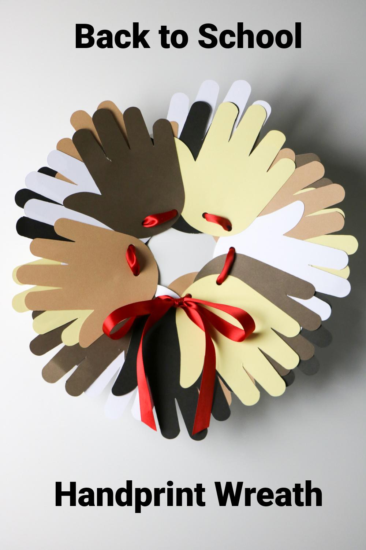 Handprint Wreath Craft for the Classroom