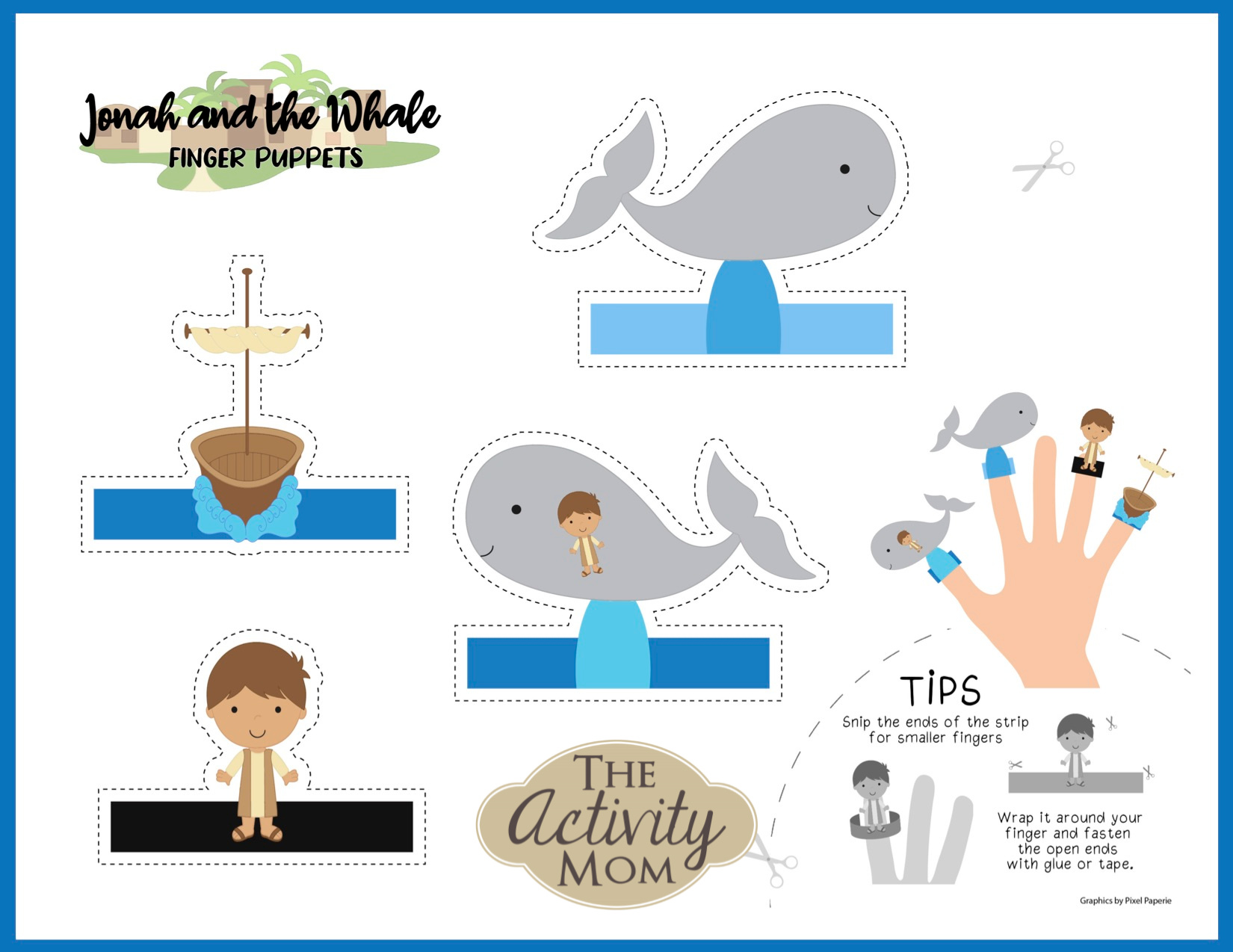 Jonah and the Whale Finger Puppets