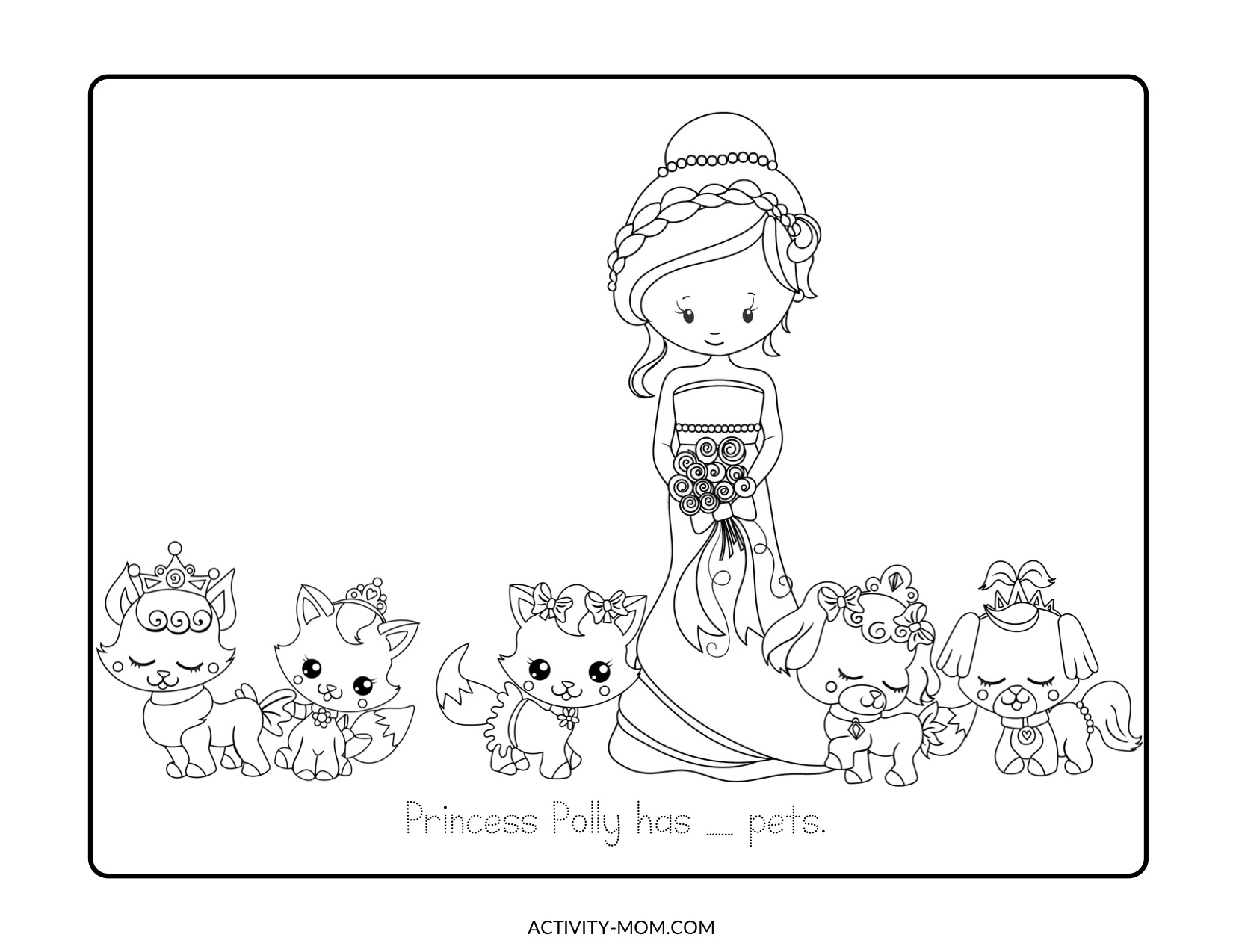 Princess Pets Count and Color