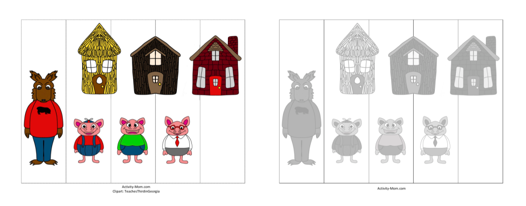 FREE cut and paste activity for preschool