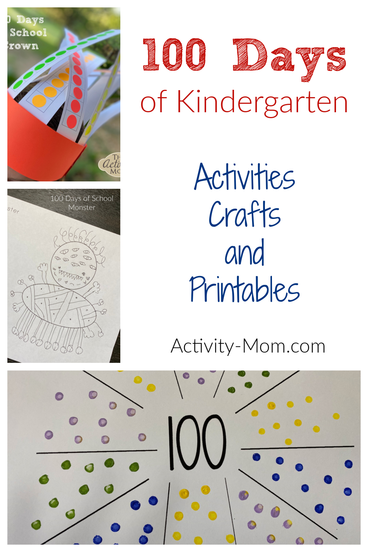 100 Days of School Kindergarten Activities