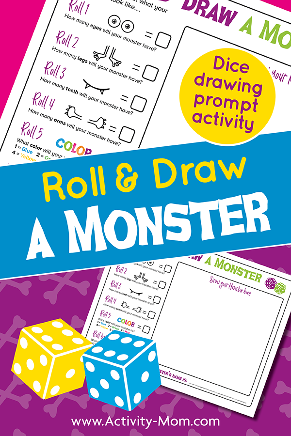 Draw a Monster Dice Game FREE