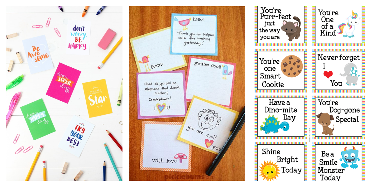 Printable Lunch Box Notes for the Whole Year