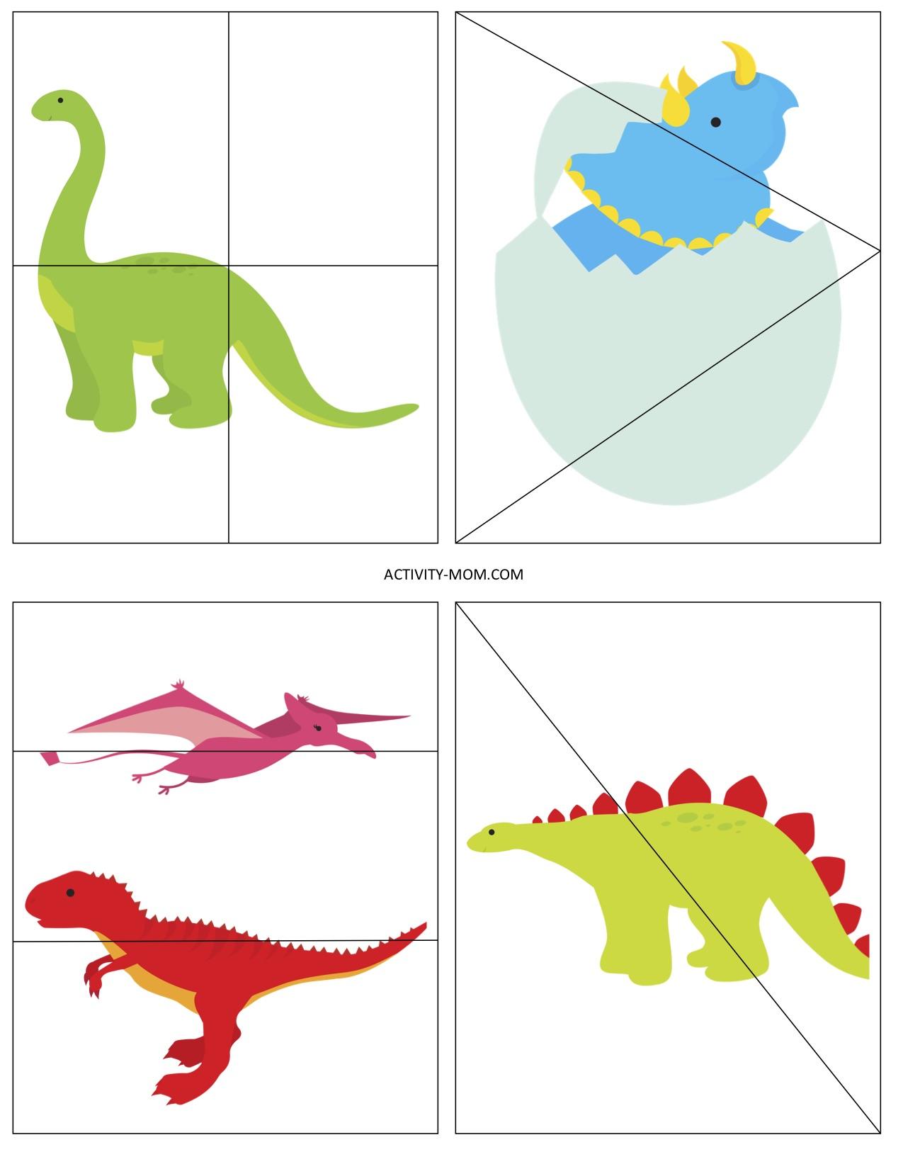 Free Printable Dinosaur Puzzles